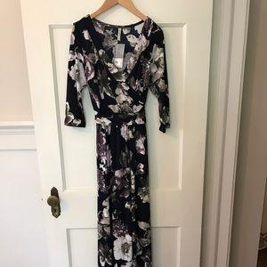 Boutique Emerald Floral maxi dress
